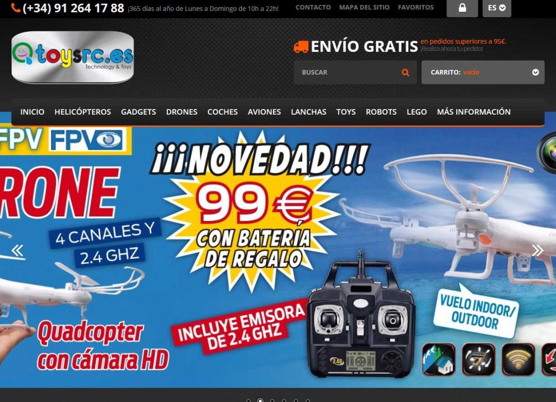 Ejemplo de tienda online de juguetes RC: Toysrc.es