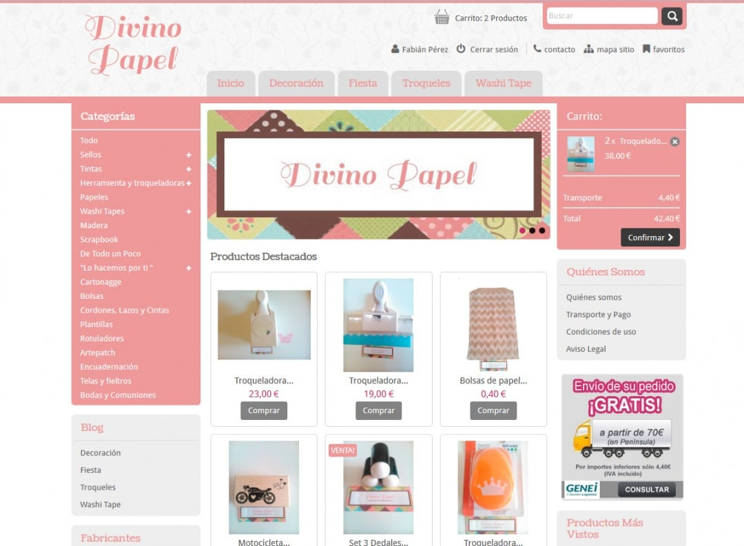 Tienda online Divino Papel