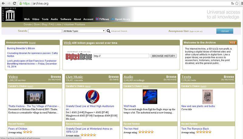 Saber cómo era antes una página web