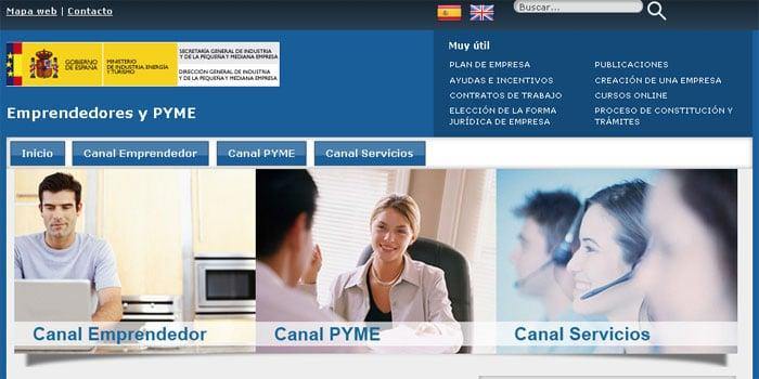 Recursos web para información y creación de empresas