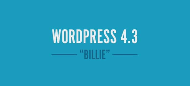 Wordpress 4.3 Billie