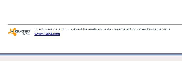 Eliminar la firma de Avast en emails