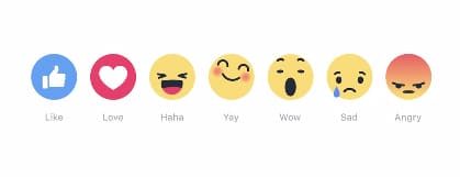 Nuevos iconos en Facebook