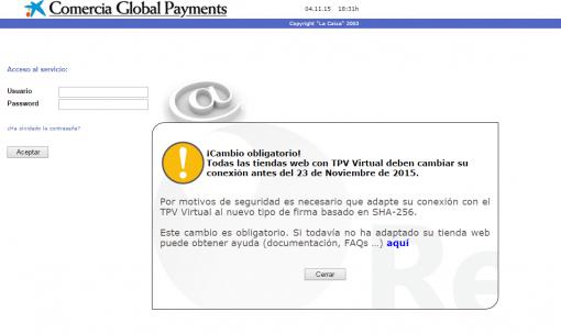 Adaptar TPV Virtual de Prestashop al nuevo tipo de firma SHA-256